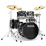 Tama RM50YH6-BK Rhythm Mate Schlagzeug Set (5-teilig) mit 50,8 cm (20 Zoll) Bassdrum inkl....