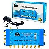 Multischalter pmse 5/8 HB-DIGITAL 1x SAT bis 8 x Teilnehmer / Receiver für Full HDTV 3D 4K UHD mit...