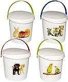 1 Stück _ Futterbox / Futterdose - ' süße Haustiere ' - für Tierfutter - Kleintierfutter /...