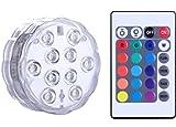 Unterwasser Licht mit Fernbedienung, Alilimall RGB Multi Farbwechsel Wasserdichte LED Leuchten...