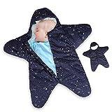 Dee Banna Baby Swaddle, Neugeborenen Stern Baby Boy Girl Bunting Winter Schlafsack warme Decke...