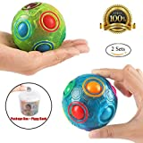 2PCS Regenbogen Ball Magic Ball Spielzeug Puzzle Magic Rainbow Ball für Kinder Pädagogisches...