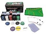 Texas Holdem Poker Set 200 Chips Black Jack Kartenspiel Pokerkartenspiel #600