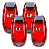 LE 4er Rot Sicherheitslicht Ideal für Laufen Spaziergang Jogger Hundehalsband 3 Modi Rücklichter...