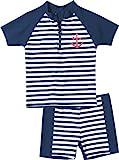 Playshoes Baby - Jungen Schwimmbekleidung, gestreift 460112 2 tlg. Bade-Set Maritim, Gr. 74/80,...