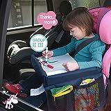 Spieltisch für Autositz Zubehör,NuoYo Kindersitz-Reisetisch mit Netztaschen Auto-Spieltisch für...