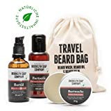 Brooklyn Soap Company: Travel Beard Bag · Hochwertiges Bartpflege-Set als Reise-Set für Männer...