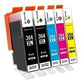GPC Image Kompatibel Druckerpatronen Ersatz für HP 364 364XL (2 Schwarz, 1 Cyan, 1 Magenta, 1 Gelb)...