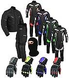 Wasserdichtes Motorrad Klage Gewebe (Jacke + Hose + Handschuhe + Balaclava) Motorradbekleidung für...