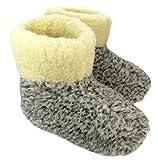 Warme Hausschuhe Hüttenschuhe aus Schafwolle Leo Gr. 43