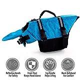 Ubest Verstellbare Hunde-Schwimmweste Rettungsweste mit Griff und Reflektion, Blau, XL