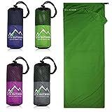 Premium Hüttenschlafsack aus Hightech Mikrofaser mit Kissenfach plus GRATIS E-Book I...