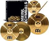 Meinl Cymbals HCS1314+10S Headliner Beckenset 33 cm (13 Zoll) Hihat, 35,6 cm (14 Zoll) Crash, Gratis...
