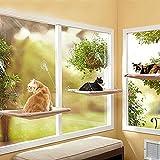 Dr. Nezix Katze Fenster Barsch - Starke Katze Fenster Hängematte mit starken Saugnapf & Edelstahl...