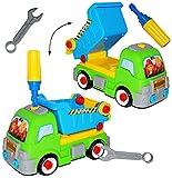 Auto mit Werkzeug - ' Kipper / Baustellen Fahrzeug ' - zum Schrauben - Räder abschrauben -...