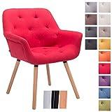 CLP Besucher-Stuhl CASSIDY, Stoff-Bezug, belastbar bis 150 kg, Retro-Stuhl mit Armlehne,...