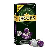 Jacobs Kapseln Lungo Intenso, Intensität 8, Nespresso®* kompatible Kaffeekapseln, 5er Pack (5 x 52...