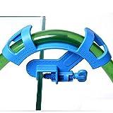 SENZEAL Kunststoff Aquarium Fish Tank Filter Wasser Schlauch Rohr Fish Schlauch-Halter Blau