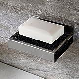 ZUNTO Badezimmer Küche Selbstklebende Seifenschale Edelstahl-Seifenhalter ohne Bohren