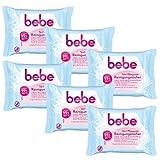 bebe 5in1 Pflegende Reinigungstücher - Abschminktücher für empfindliche & trockene Haut - 6 x 25...