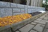 Steinimitat Zaun Rasenkante Palisade Beeteinfassung antikgrau 2,34 m x 20 cm x 2,5 cm stark schnelle...