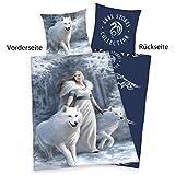 Herding 4481037050 Bettwäsche Anne Stokes, Kopfkissenbezug, 80 x 80 cm und Bettbezug, 135 x 200 cm,...