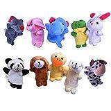 10 Fingerpuppen Set für Kinder | Velvet Tiere Handpuppen | Niedliches Spielzeug Fingertiere |...