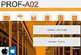 PROF-A02mw Rechnungsprogramm Angebote Rechnungen Lieferscheine Artikel Arbeitsleistung Produkte...