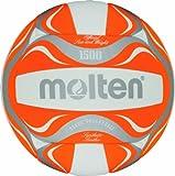 Molten  Beachvolleyball Beachvolleyball BV1500-OR, WEISS/ORANGE/SILBER, 5, Orange/Weiß/Silber, 5,...