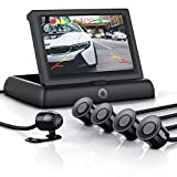 CSL - Rückfahrkamera mit Display / Einparkhilfe Sensorsystem Set   Autokamera Rückfahrhilfe   4,3'...