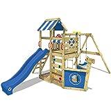 WICKEY Spielturm SeaFlyer Spielgerät Garten Kletterturm mit Schaukel, Rutsche und viel Zubehör,...