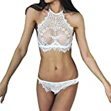 sexy dessous Vovotrade ✿✿ Mode Frauen Charming Dessous Spitze Blumen Push Up Top Bh Hosen...