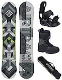 AIRTRACKS Snowboard Set / Board Cubo Wide 168 + Snowboard Bindung Star + Boots Master QL 43 + Sb Bag