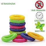 Premium Naturals Moskito Repellent Armbänder, eLander 12 Pack Best Pest Control Repeller bis zu...