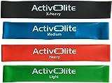 ActiveElite ✮ 4 verschiedene Fitnessbänder / Trainingsbänder / Gymnastikbänder / Übungsbänder...