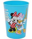 1 Stück _ 3 in 1 - Trinkbecher / Zahnputzbecher / Malbecher - Becher - ' Disney Minnie Mouse - BLAU...