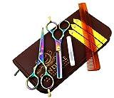 CANDURE® Professionell Haarscheren Set Mikroverzahnt Effilierschere Modellierschere Friseur Scheren...