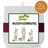 2x Nussmilchbeutel | Passiertuch | Filterbeutel Set für vegane Milchalternativen wie Nussmilch,...