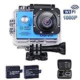 WiFi Unterwasser Kamera Blau Action Sports Kamera Wasserdicht Camcorder Tauchen 30m HD 1080P...