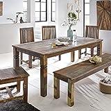 Esszimmertisch 180 x 90 x 76 cm Mango Shabby Chic Massiv-Holz - Design Landhaus Esstisch Bootsholz -...