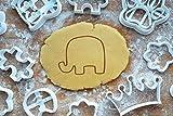 Elefant Ausstechform Ausstecher 5cm Keksausstecher Zoo Tiere Backen Plätzchen Cookie Cutter Fondant