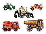 Mono-Quick Nummer 312 Aufbügelbilder Baufahrzeuge Set, 5 teilig, Baufahrzeugmotive, 5,5 x 2,5 cm,...