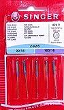 5 Original Singer Nähmaschinen Nadeln 2026 Stärke 90/14 und 100/16 für Jeans 130/705 H-J