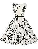 Damen vintage retro rockabilly kleid festliches kleid swing dress for women partykleid Größe S...