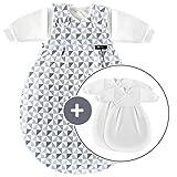 Alvi Baby Mäxchen Original/Ganzjahres Baby-Schlafsack - 3-tlg. mit gefüttertem Außensack und 2...