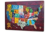 Blechschild XXL Welt Reise USA Nummernschilder