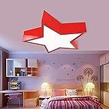 Kinder Creative Cartoon Deckenleuchte modern LED 18W Kein Flackern Pentagram DeckenLampe Blau Rot...