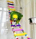 Holz-Vogeltreppe, Haustierspielzeug für Käfige, für Papageien, Aras, Graupapageien,...