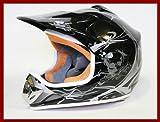 Helm Kinderhelm Motorradhelm Crosshelm Motocrosshelm Sport Schwarz S