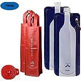 iNeibo weinflasche/ weinbeutel wiederverwendbare, faltbare und flexibel- 750ml Wein-Beutel für...